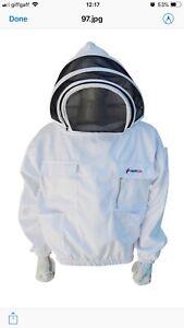 FidèLe L'apiculture Protection Premium Bee Veste Costume/clôture Voile/260gsm Polly Coton/m-afficher Le Titre D'origine Brillant En Couleur