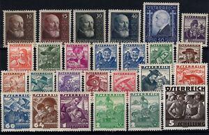 P130297-AUSTRIA-STAMPS-LOT-1928-1936-MINT-MH-CV-200