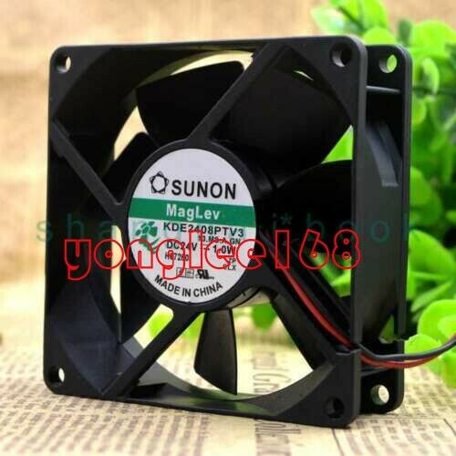 SUNON KDE2408PTV3 24V 1.0W 0.04A 2pin 80×80×25MM Cooling fan 1PC NEW