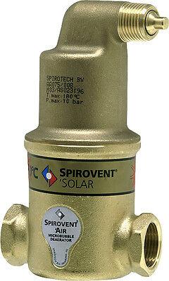 Spirovent Luftabscheider, Mikroluftblasenabscheider Solar horizontal, Standard
