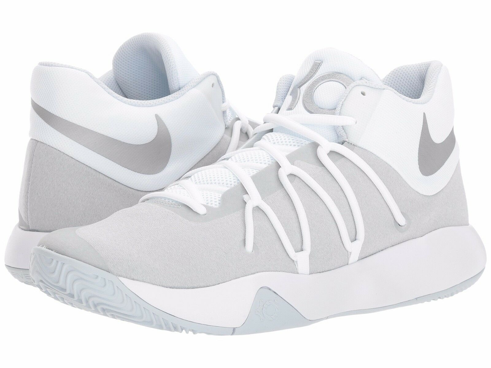 Seasonal price cuts, discount benefits Men's Nike KD Trey V Basketball Shoes White/Chrome-Platinum NIB 897638-100