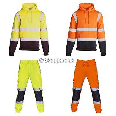 MüHsam Hi Vis Viz Two Tone Hoodie Jogger Yellow Sweatshirt Zip Security Jumper Top Billigverkauf 50%