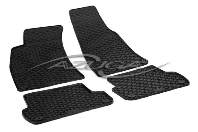 Gummimatten für Audi A4/Avant (8E/B6/B7) 2001-2008 Gummi-Fußmatten mit Clips