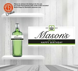 PERSONALISED 60th Birthday Bottle LABEL Make a gift UNIQUE Auntie Mum Sister Nan