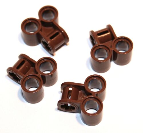 4x lego ® Technic conector 2xpin//eje 90 ° perpendicular 32291 nuevo marrón ALT