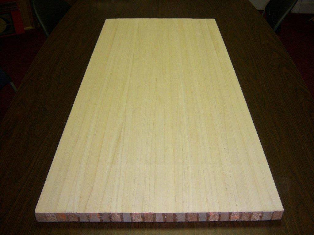 Paulownia Wood Surfboard, Alia, Handplane Blanks -  1  x 14 3 4  x 27