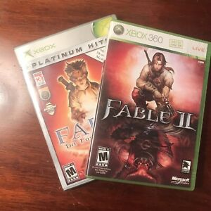 Fable: The Lost Chapters (Platinum Hits) & Fable II (Microsoft Xbox 2005) Bundle