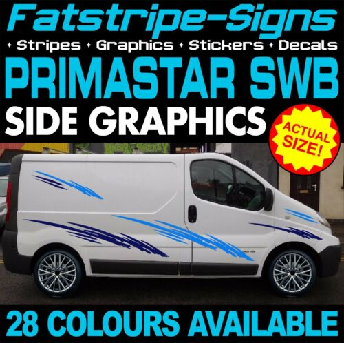 Nisssan Primastar SWB Graphique Autocollants Rayures Camper Van Camping-Car Conversion