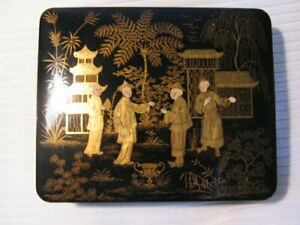Antique-Chinese-Black-Laquer-Gilded-Box-Jewelry-Box-4-Figures
