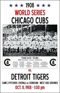 A review of 19071908 world series games
