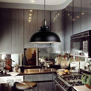 Retro-Vintage-Industrie-Edison-Metallanhaenger-Decken-Lampe-Licht-Schwarz