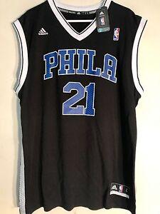uk availability adbeb 96c29 Details about Adidas NBA Jersey Philadelphia 76ers Joel Embiid Black Alt sz  L