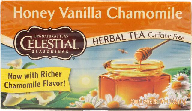 Honey Vanilla Chamomile Herb Tea by Celestial Seasonings, 1 Box