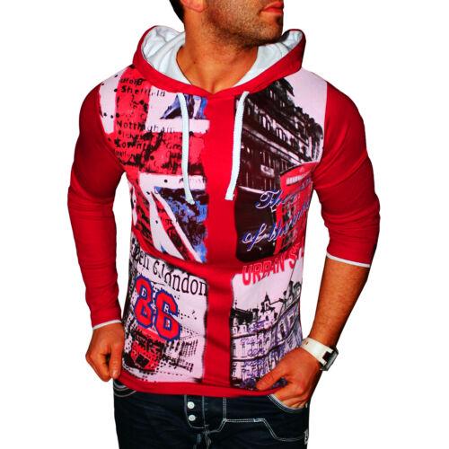 ZAHIDA Herren Kapuzen Shirt Pullover Sweatshirt Hoodie T-Shirt UK England NEU