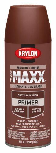 Krylon K09186000 COVERMAXX Primer 12 Ounce Red Oxide