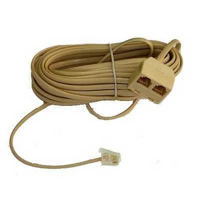 21W002 25 foot Modular 6 Position Phone Cord Twin Extension Cable