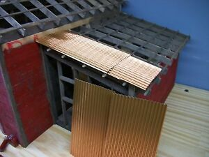 CORRUGATED  Copper ROOFING 1:24 1:25 & G & O SCALE MODEL DIORAMA &  RAILROAD