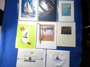 8 Blank Greeting Cards Related to Boats & Sailing Many Handmade & 3D with Envs