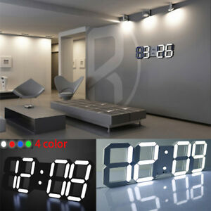 Details About Large Modern Design Digital Led Desk Wall Clock Watches 24 Or 12 Hour Display