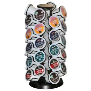 40-Keurig-K-Cup-Holder-Coffee-Pod-Carousel-Stand-Storage-Organizer-Display-Black
