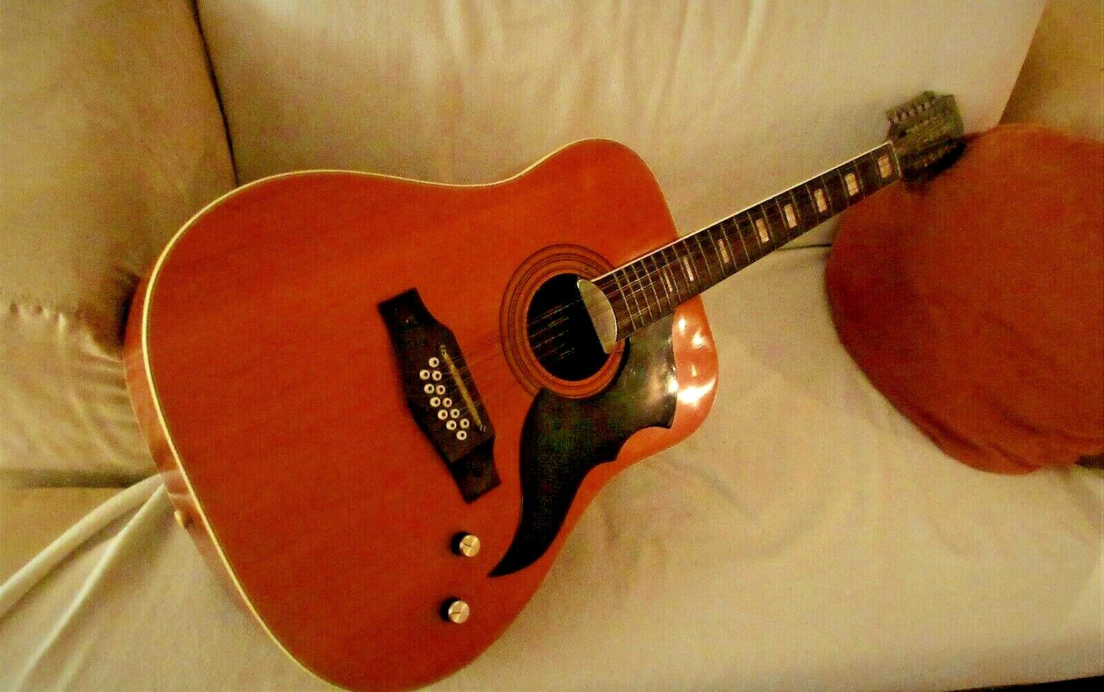 AMAZING VINTAGE EKO RANGER 12 STRING ACOUSTIC ELECTRIC QUITAR ITALY FROM 70s