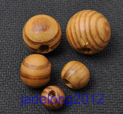 8 10 12 14 16mm Natural Wood round Beads loose bead fit Bracelet necklace