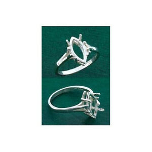 (10x5mm-12x6mm) Marquis Sterling .925 Ring Setting (Ring Sizes 5,6,7, 8 )