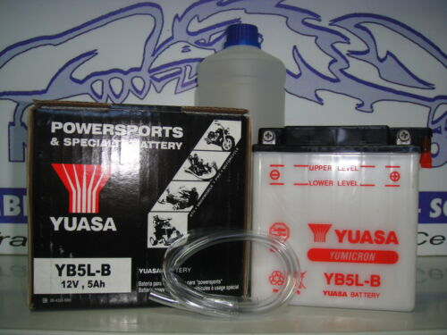 BATTERIA YUASA YB5L-B C//ACIDO MALAGUTI Ciak 100 ANNO 1999