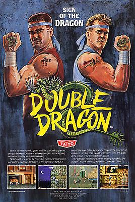 Double Dragon Retro Game Poster 4 Sizes Mame Arcade Nes Sega