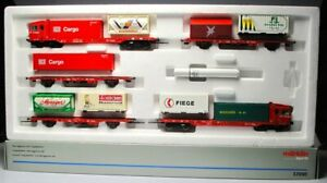 Marklin-37090-Ho-scale-Train-Pack-039-DB-Cargo-Sprinter-039-with-containers