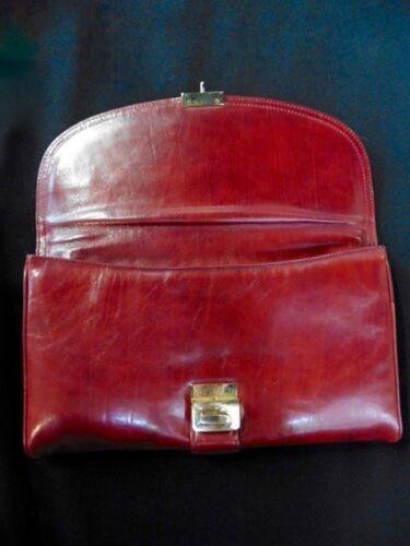 Pochette Cuir En etat 1980 Tb Bordeaux Vintage rS0qrw