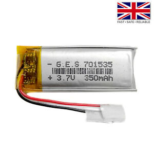 3.7V 350mAh LiPo 1S Polymer Rechargeable 3Wire Battery: MP3 GPS Speaker - 701535