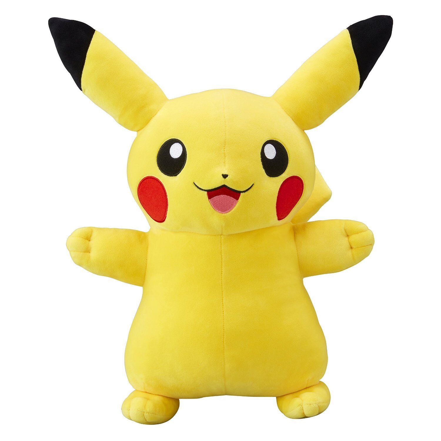 Pokemon Center Original Muñeca De Peluche Peluche Tamaño Natural Pikachu sonrisa