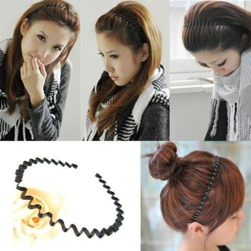 Apparel Accessories 1 Pc Fashion Men Women Unisex Black Wavy Hair Hoop Band Sport Band Hairband Hair Accessories