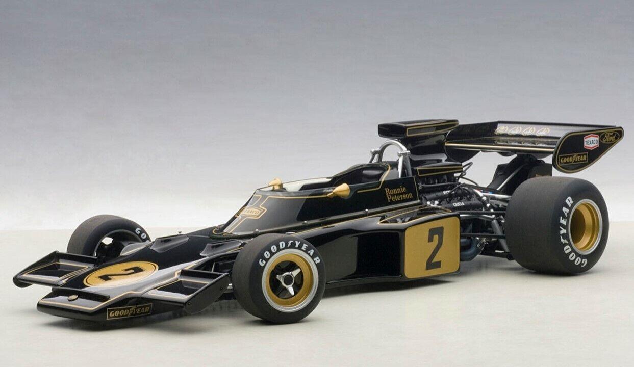 mas preferencial 87329 Autoart 1 18 Lotus 72E 1973  2 2 2 Ronnie Peterson  edición limitada en caliente