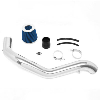 1Pc Aluminum Engine High Flow Cold Air Intake Kit w//Blue Filter Replacement for 97-01 Honda Prelude 2.2L