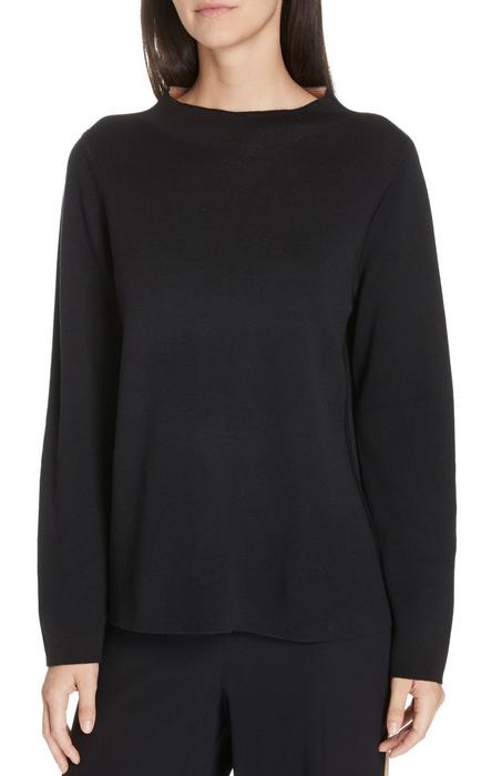 Eileen Fisher REVERSILBLE Silk Blend Sweater Neuf avec étiquettes 298