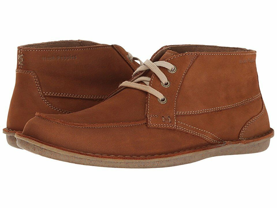 NEW  HUSH PUPPIES Alby Roll Flex Men's Boots Brown Suede Size US 11