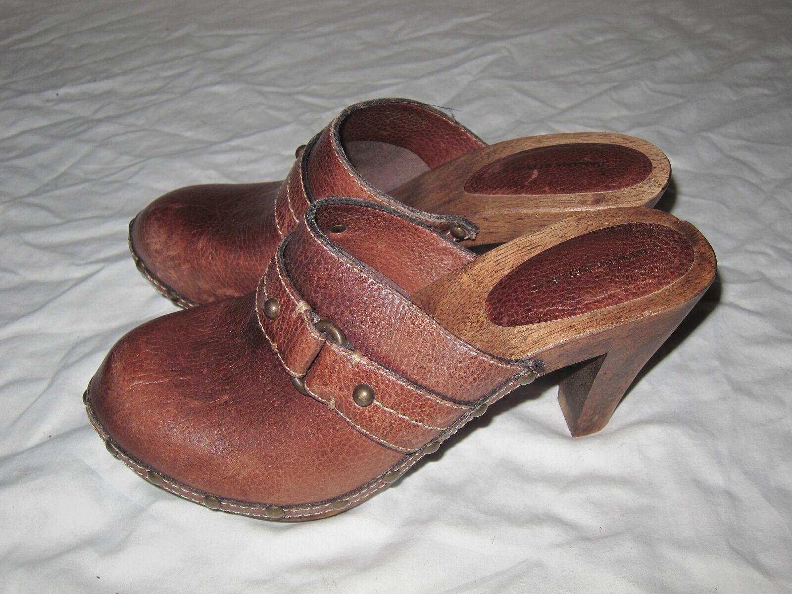 Gorgeous! Womens Clogs clogs Banana Republic Brown leather clogs Clogs size 8 c88dc0