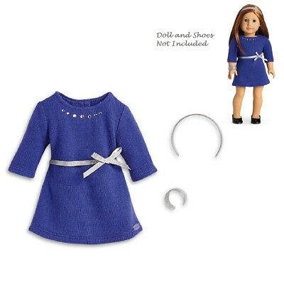 "American Girl Tm Blau Strass Nieten Kleid Für 18 "" Puppen Truly Me Neu Making Things Convenient For Customers"
