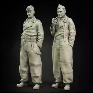 1-35-Resin-Figure-Model-Kit-German-Soldiers-WWII-WW2-Unassambled-Unpainted