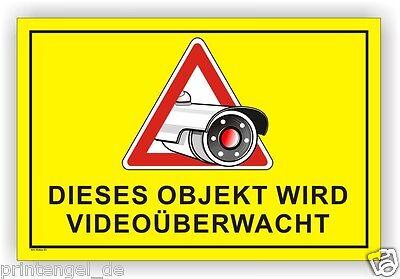 """Blechschild Achtung..Dieses Objekt wird per Video überwacht!/"""" warn"""