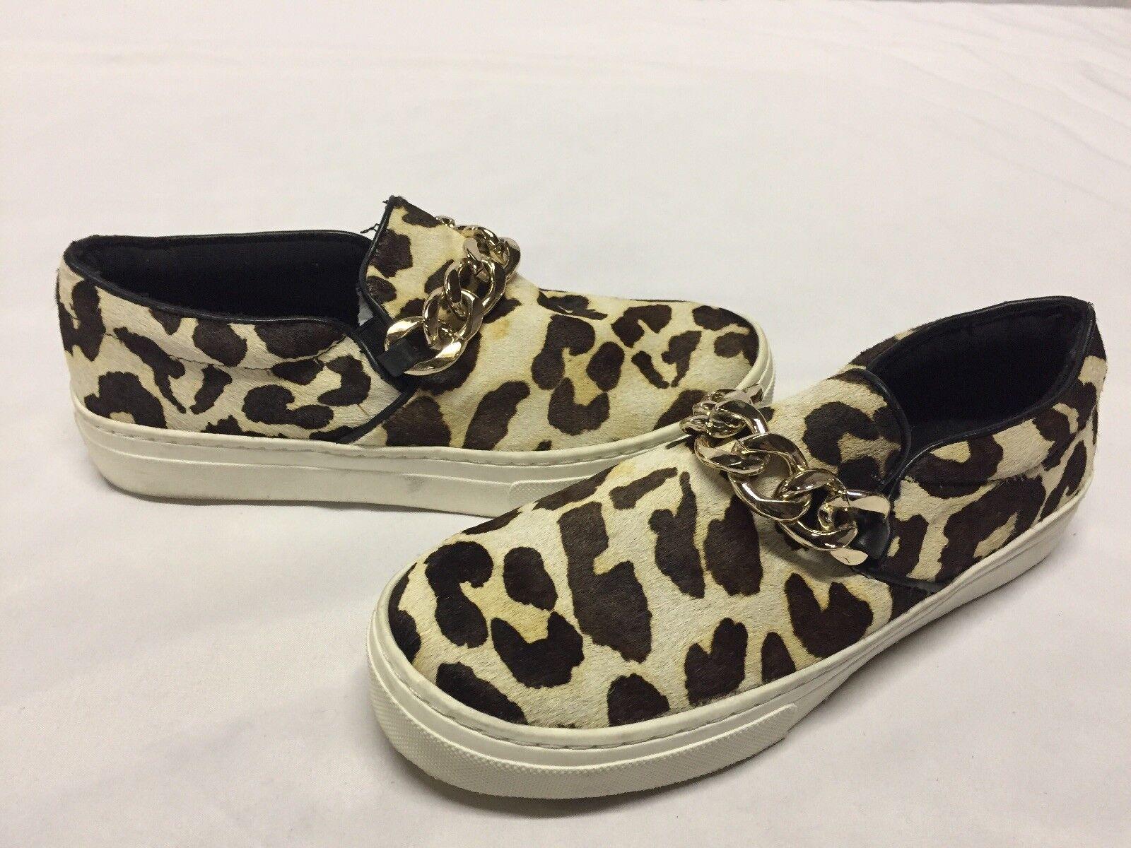 Aldo Mujer Mocasines Zapatos, Zapatos, Zapatos, Leopardo, Talla 7 EUR 37.5 UK 4.5. plana 4  marca en liquidación de venta