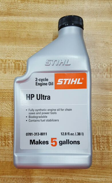 2 CYCLE ENGINE OIL STIHL HP ULTRA 12 8 FL OZ MAKES 5 GALLONS