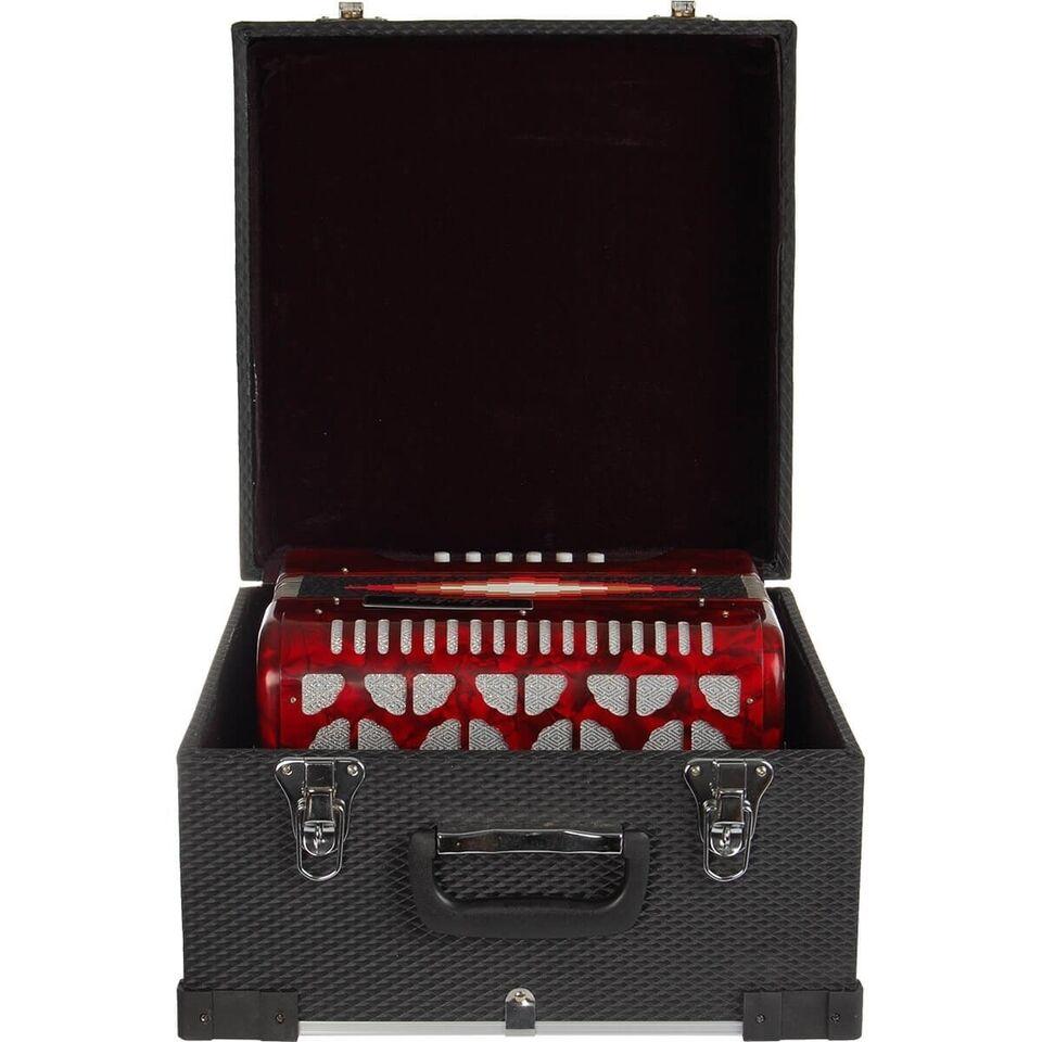 Andet, Beckett JH3112 knap-harmonika rød