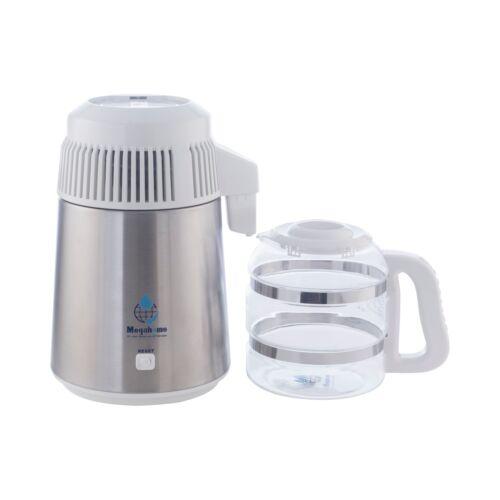 Megahome distillatore acqua Deluxe con brocca di vetro in bianco UK 3 PIN PLUG