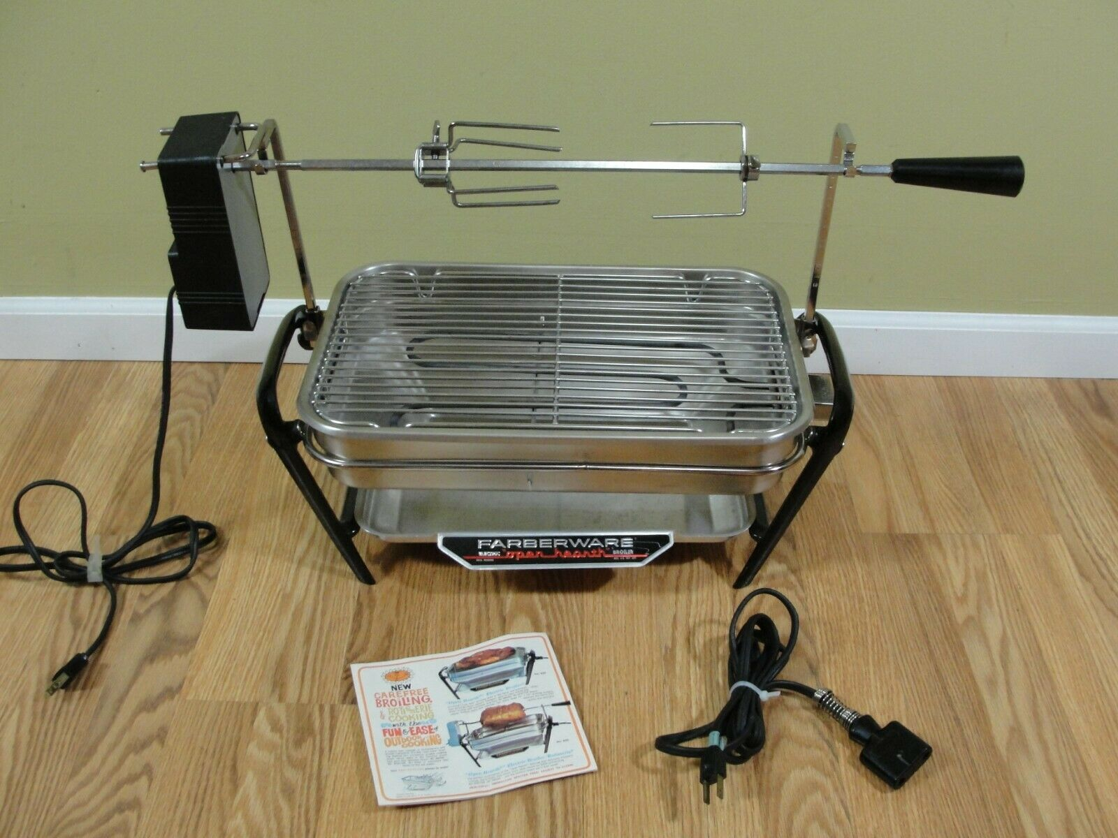 CouleurRWARE OPEN HEARTH rougeisserie Grill Broiler Model 450 A sans fumée Indoor