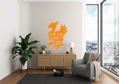 Save Gas Ride A Chocobo Inspired Design Bedroom Wall Art Decal Vinyl Sticker