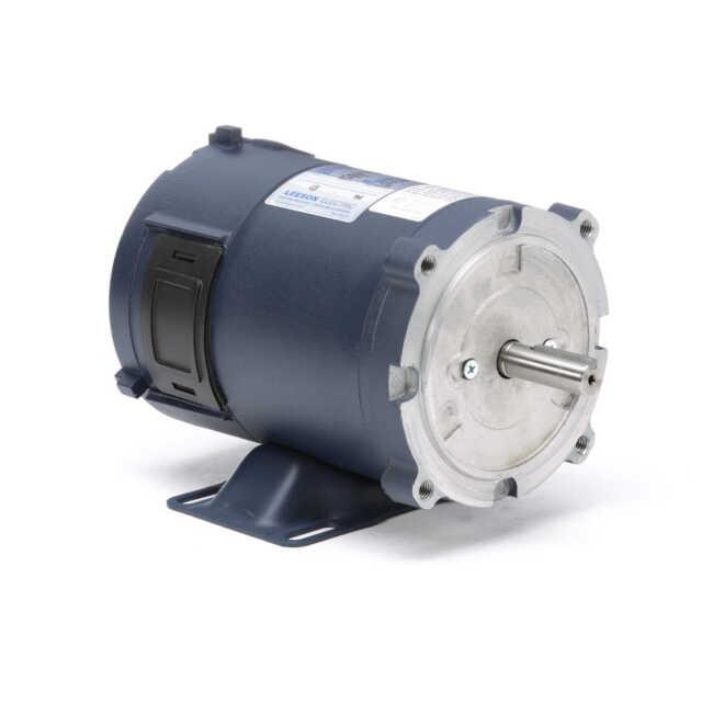 Leeson 108045 00 12 Volt Dc 1750 Rpm 1 4 Hp Electric Motor 56c Frame