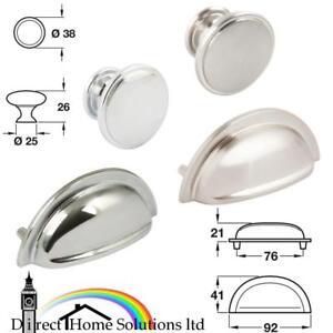 26 X Hafele Henrietta Cup Pull Poignée Bouton De Cuisine De Gamme Tiroir Armoire Porte-afficher Le Titre D'origine